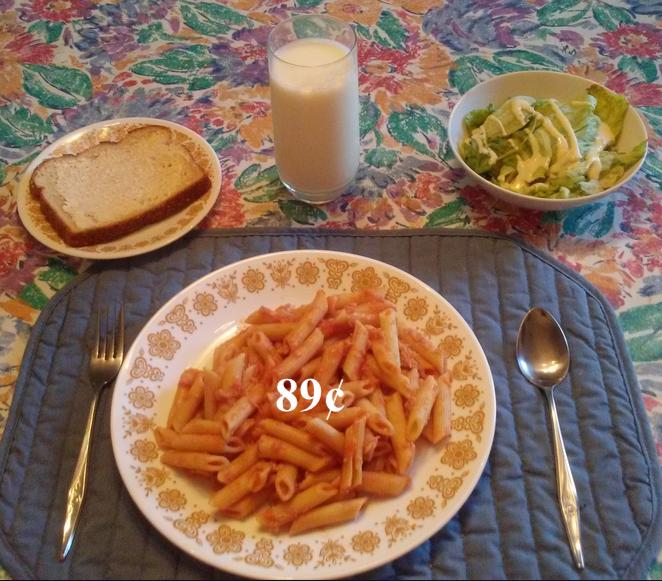 Cheap spaghetti dinner