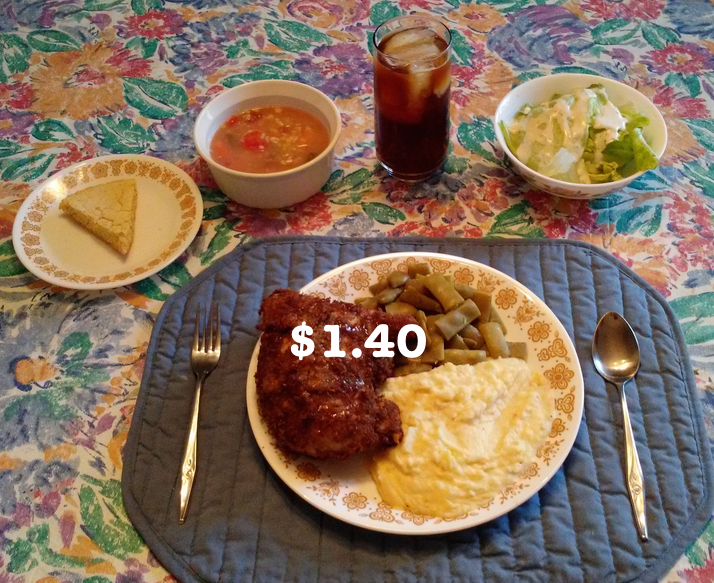 cheap fried chicken meal