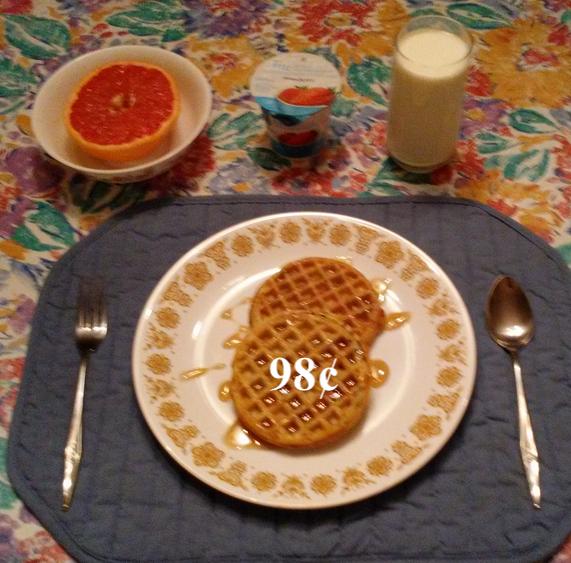 waffles with yogurt