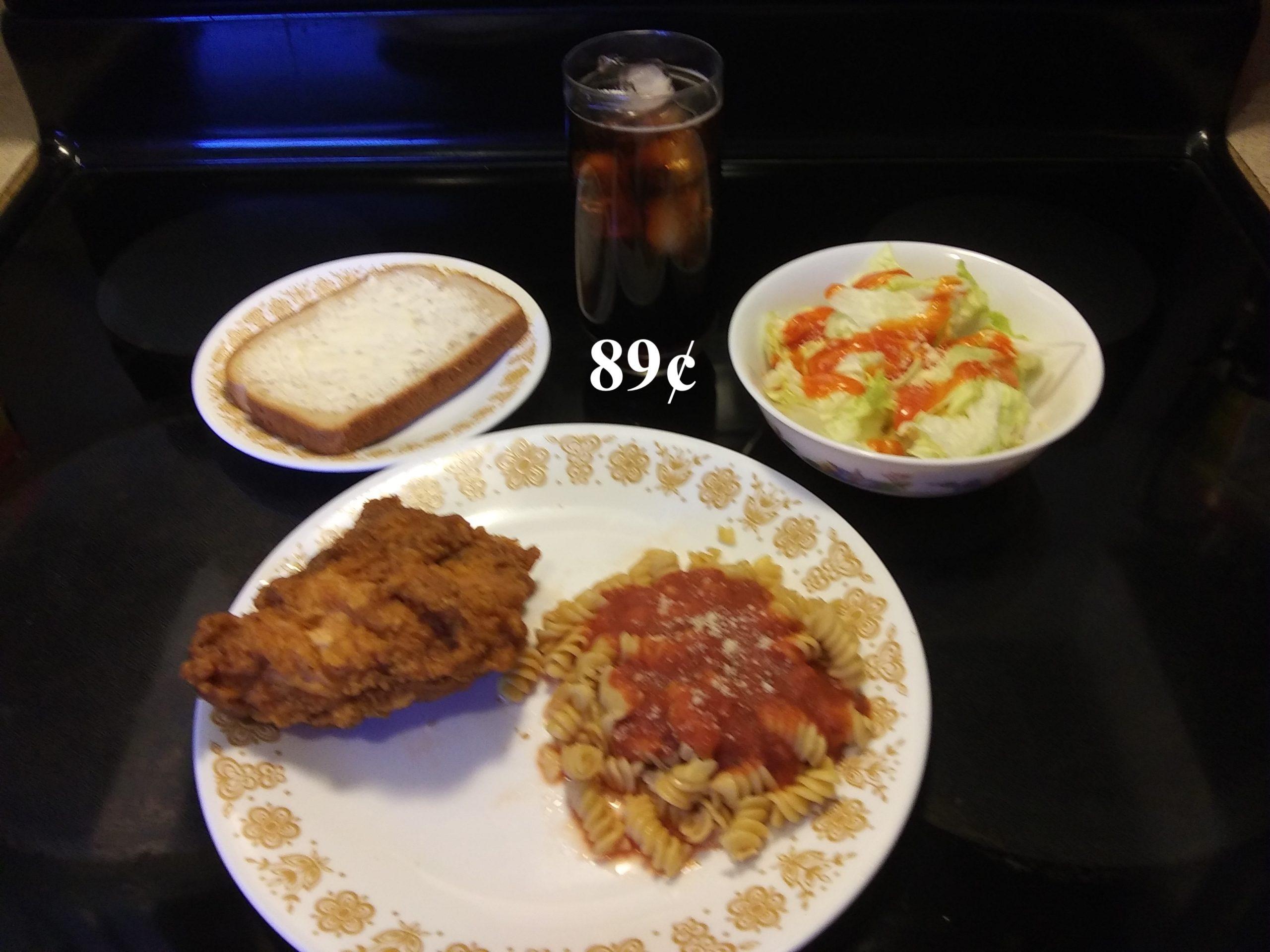 pasta w chicken lunch